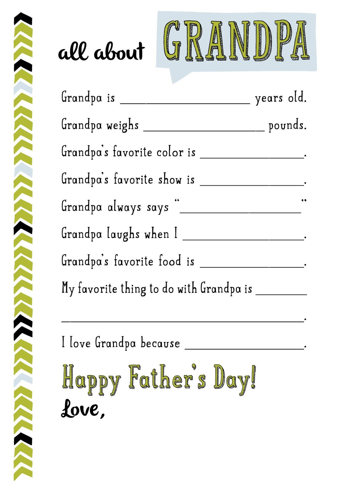 Smart image throughout all about grandpa printable