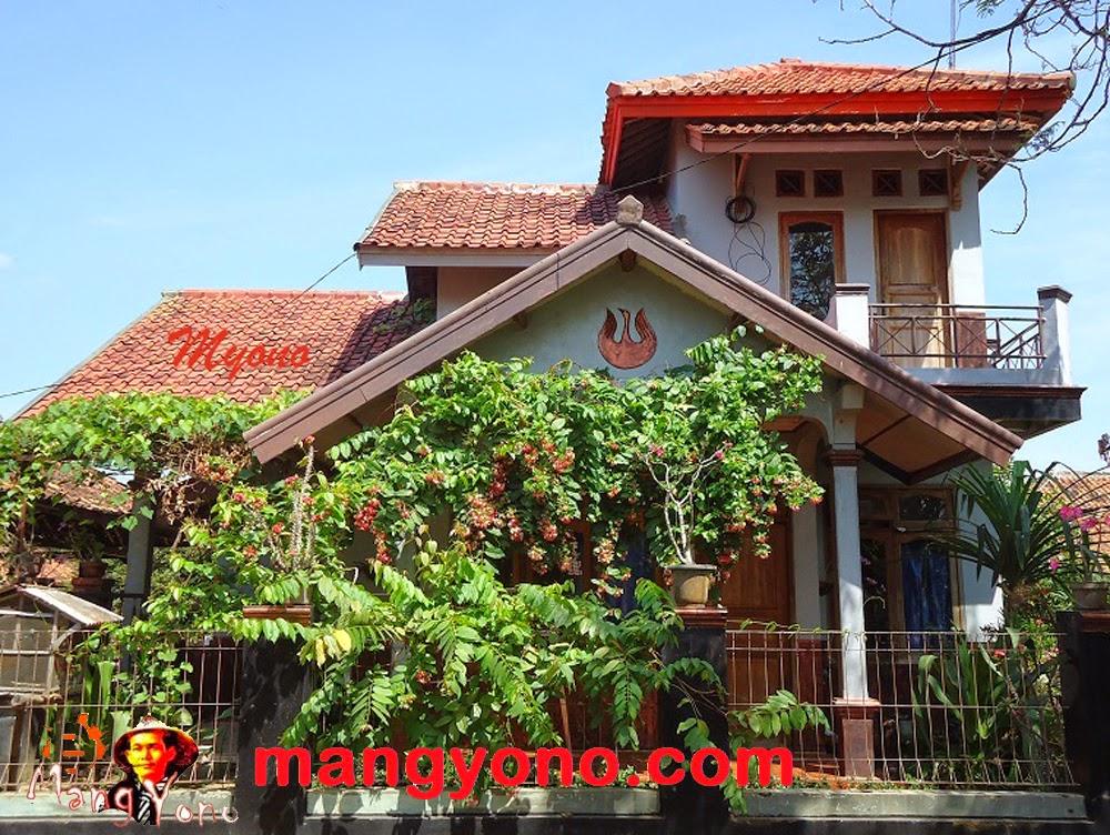 Rumah saya pakai atap tanah liat tradisional