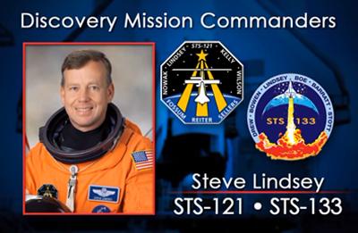 Steve Lindsey 2006 + 2011 (STS-121 + 133). NASA 2012.