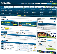 Interface de William Hill