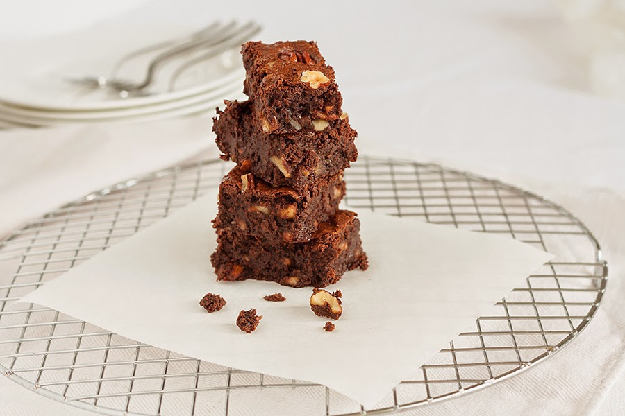 brownies fondenti e farina integrale