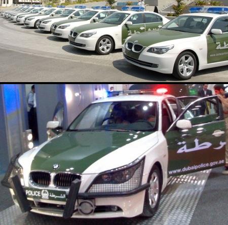 Kepolisian Dubai memiliki 101 unit BMW 5-Series. Separuh darinya akan digunakan sebagai mobil patroli.