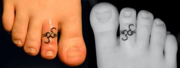 toe ring tattoo ideas. Black Bedroom Furniture Sets. Home Design Ideas