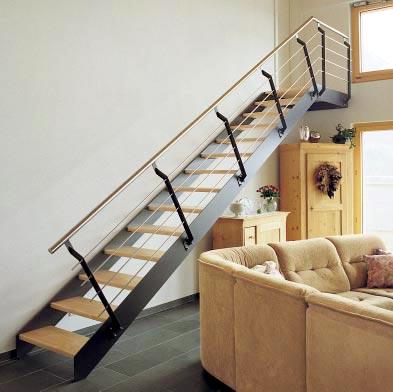 Tipos de escaleras para el interior de la casa cocinas for La casa de las escaleras de aluminio
