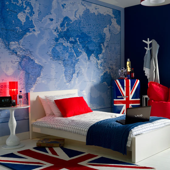 Mix and chic modern union jack children 39 s room inspirations for Union jack bedroom ideas