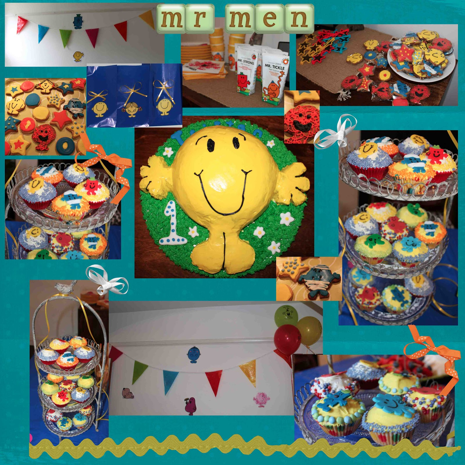 Little People Thinking Parents Mr Men Party My Baby Turns 1