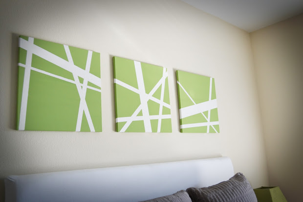 Painters Tape Canvas Art Easy