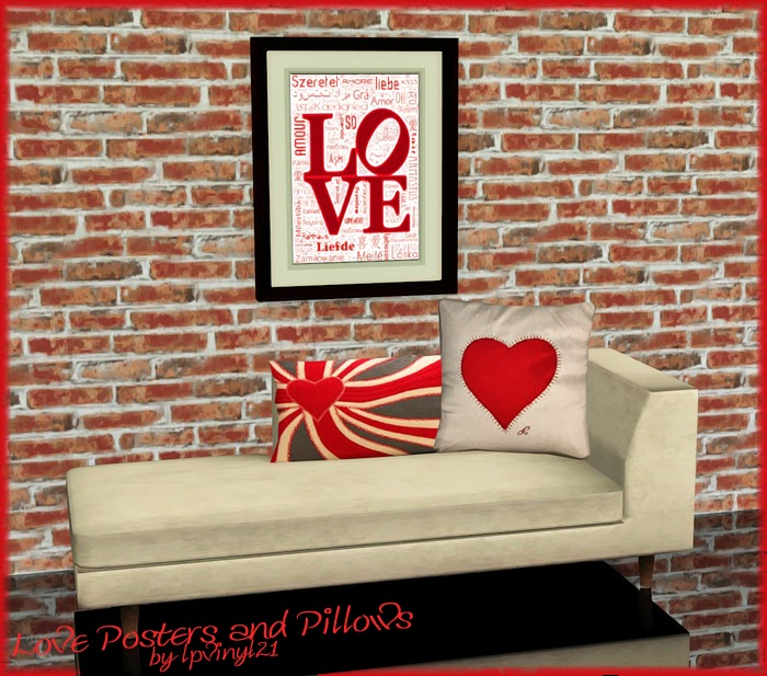 My Sims 3 Blog: Pillows, Wall Decor And Rugs By Lpvinyl21