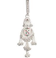 Unique Keychain in Silver & Gemstones