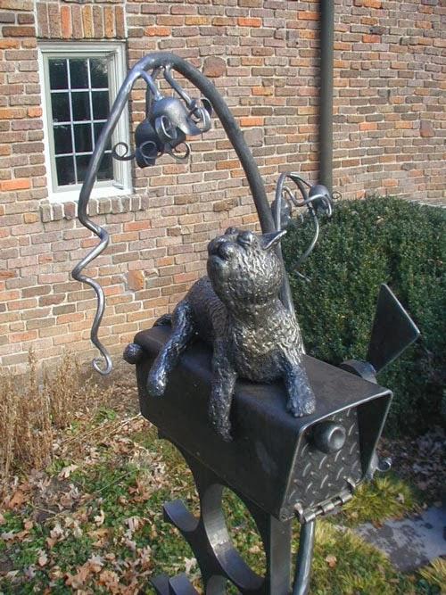 Cat Sculptural Mailbox art by Stefan Bonitz