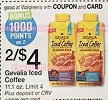New Coupon: $1/1 Gevalia Iced Coffee with Almond Milk ($0.48 At Walgreens Next Week!!!! WOW!!)