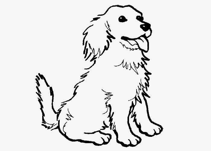 Puppy dog coloring page Free