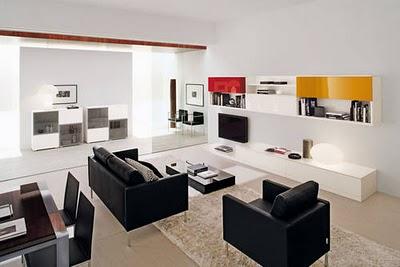 Decoraci n de interiores libreros estilo contempor neo for Sala estilo contemporaneo