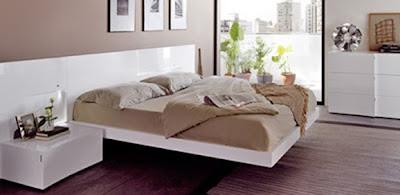 dormitorio cama flotante moderna