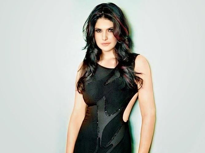 zarin khan looking hot in black dress