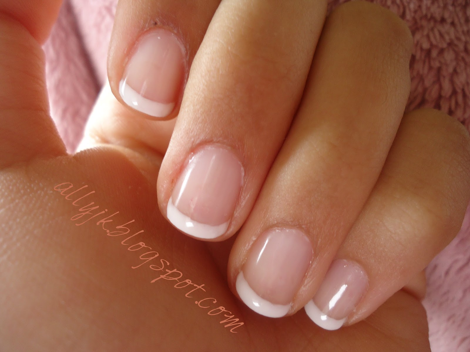 ally 39 s nails a basic french manicure with gel nail polish. Black Bedroom Furniture Sets. Home Design Ideas