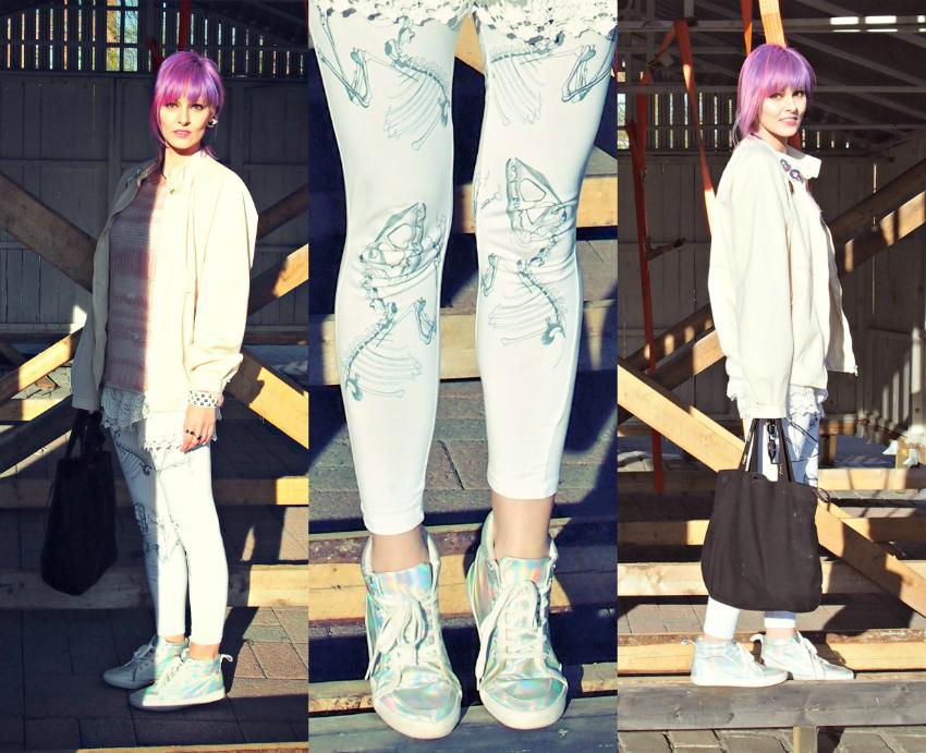 dinosaur leggings, pastel punk, outfit