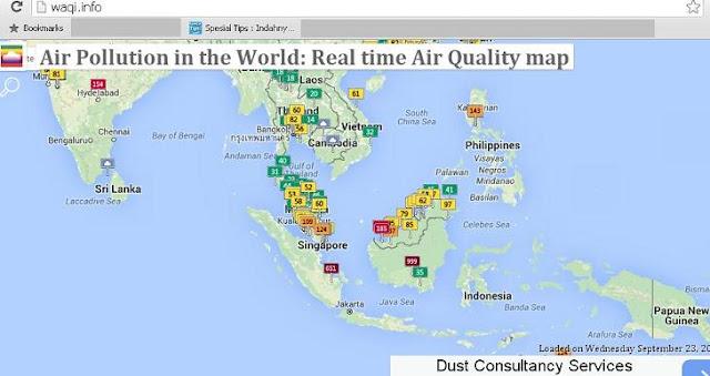 Ingin Tahu Tingkat Polusi Udara Di Dunia, Gunakan Peta Interaktif Ini