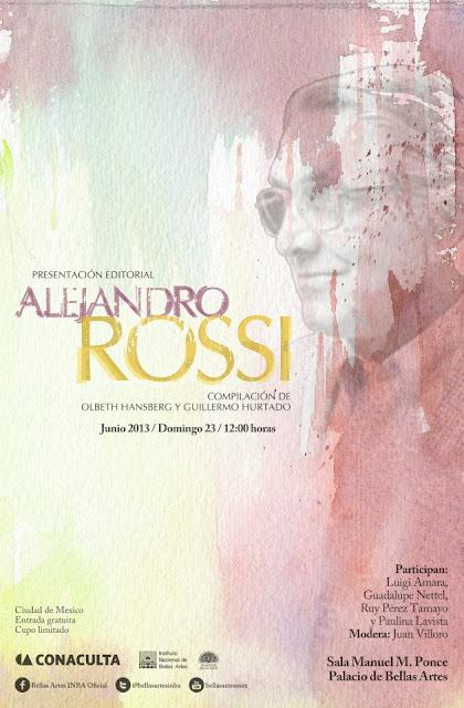 Compilación sobre la obra de Alejandro Rossi se presenta en el Palacio de Bellas Artes
