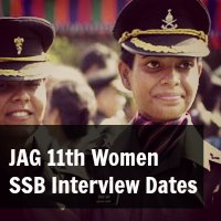 Judge Advocate General JAG 11th Women SSB Interview Dates