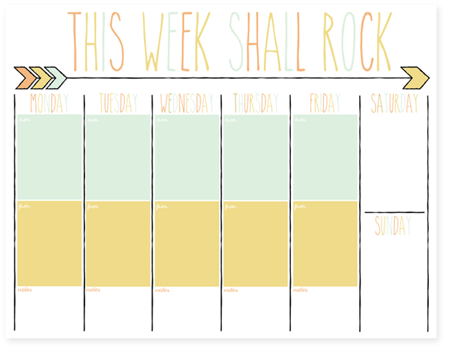 ... should be mopping the floor: Free Daily and Weekly Planner Printables