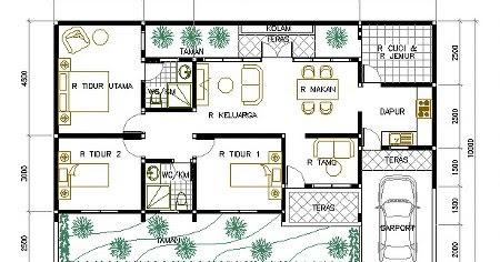 denah rumah sederhana 3 kamar tidur denah rumah sederhana 3