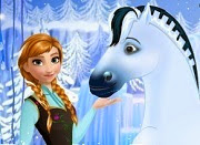 Frozen Anna Royal horse caring
