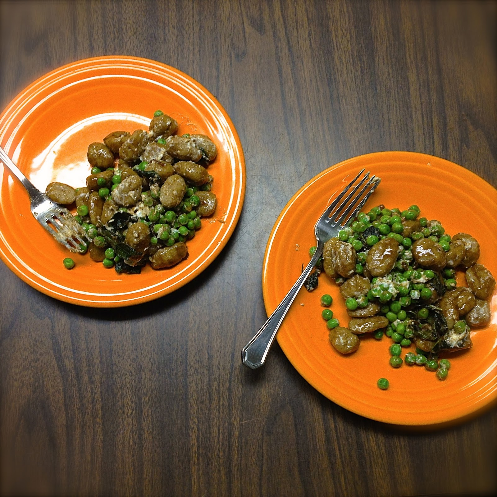 BinomialBaker: Whole Wheat Sweet Potato Gnocchi and Peas with a ...