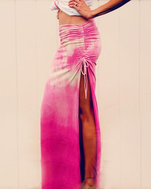 DIY ruched skirt