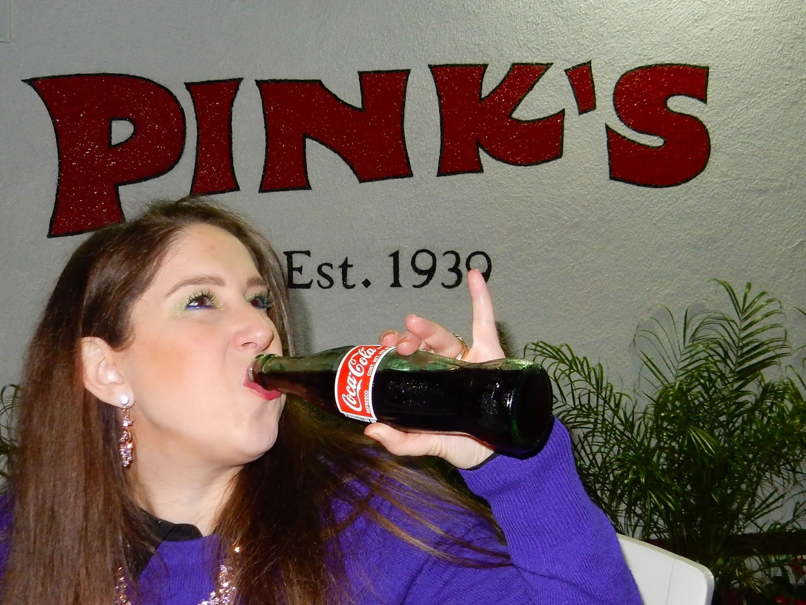 Pink's hollywood hot dogs marisa the high heeled brunette.