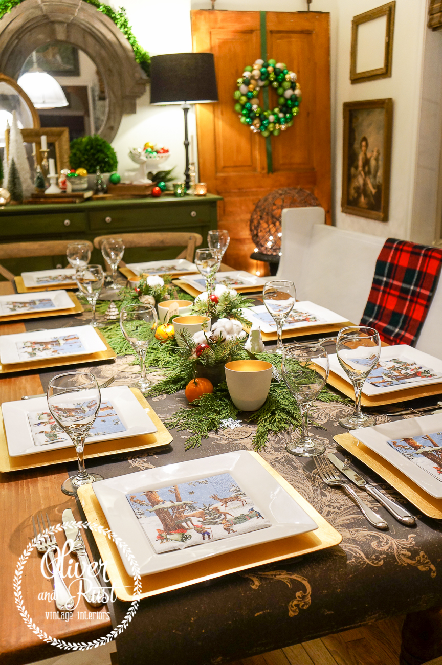 This Year We Went With A Bit Of A More Quirky Table I Used Our Gold Square  Charger Plates, With White Square Plates The Gnome Napkins Were Really  Just My