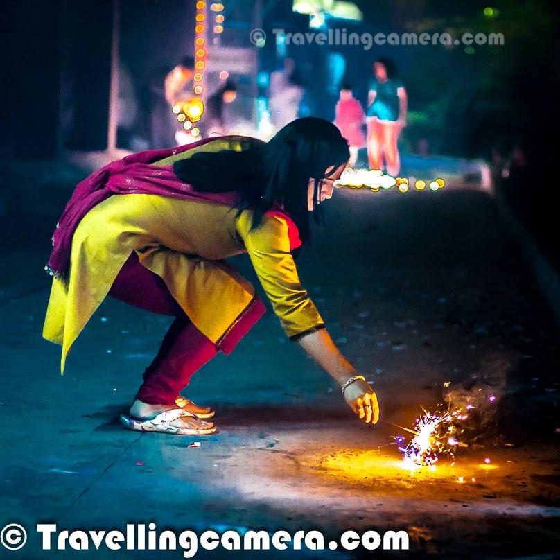Diwali Celebrations 2013 at Rohini, Delhi - Celebrations, Festival of Lights, Lights, Lamps, Crackers, Sound, Music, Sweets