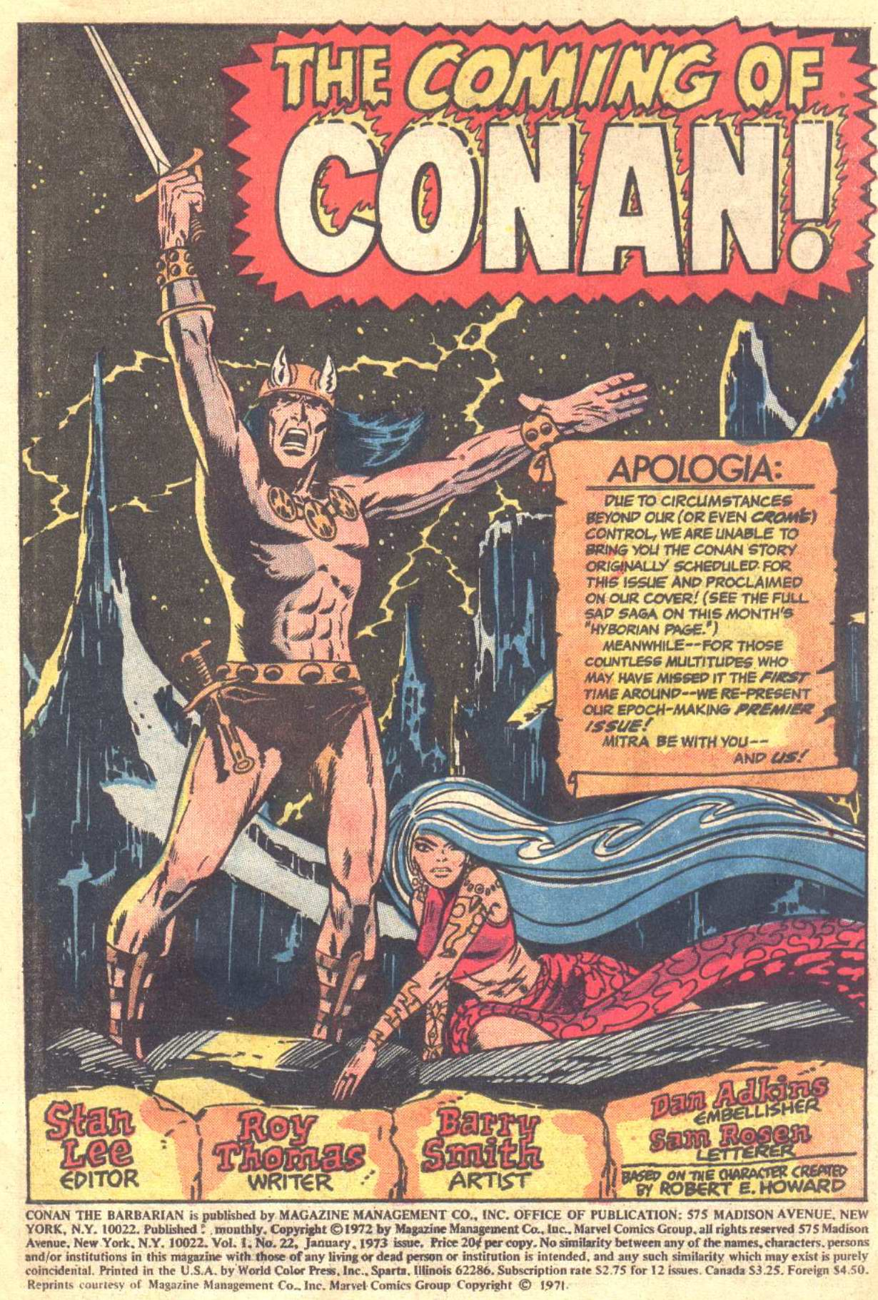 Conan the Barbarian (1970) Issue #22 #34 - English 2