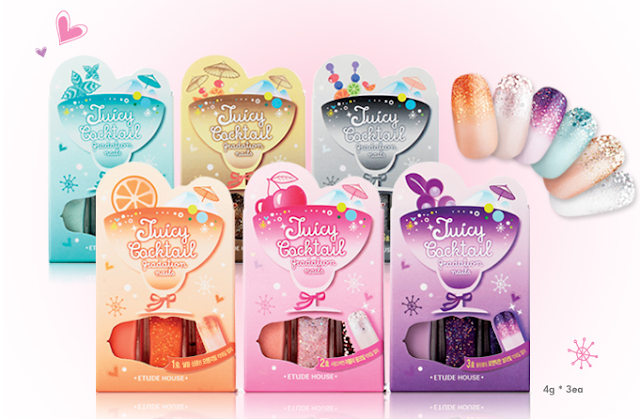 Etude House Juicy Cocktail gradation nails sets