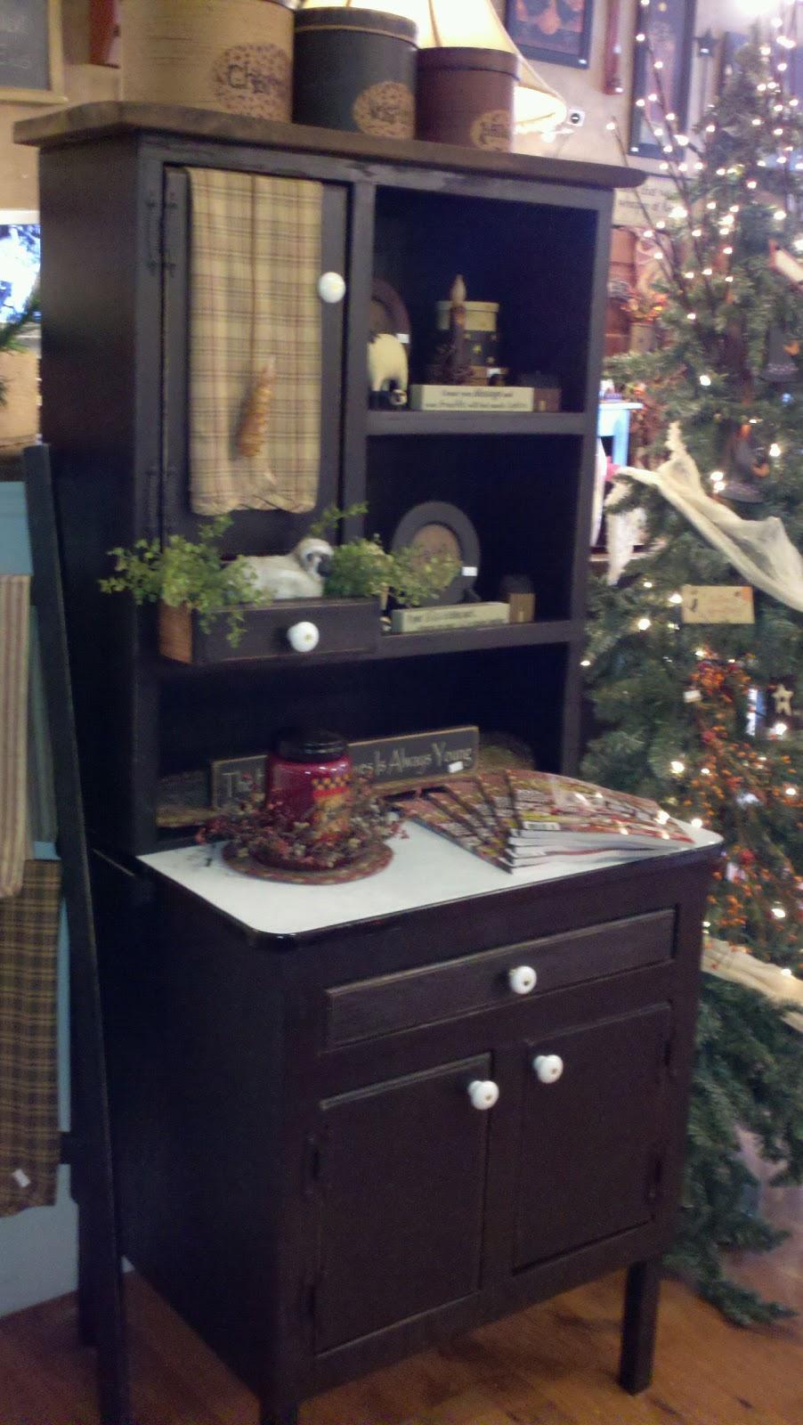 C & C Furnishings: Mini Hoosier Cabinet Makeover
