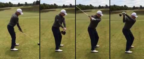 Sequence of Matthew Fitzpatrick's swing from address to top of backswing