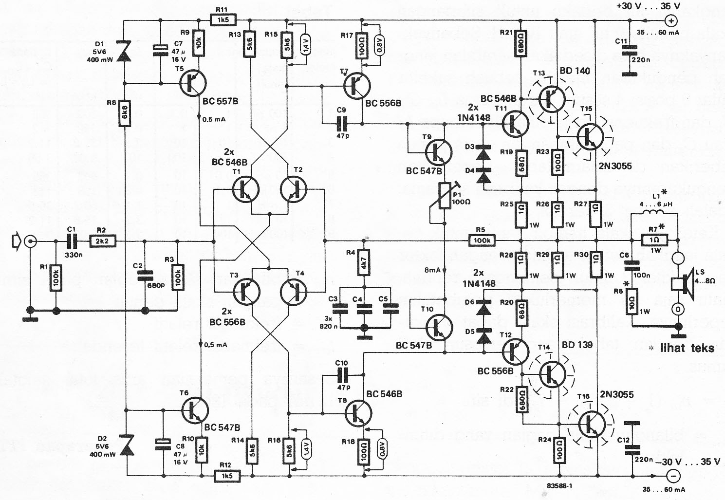 40w hifi amplifier rh audiocircuit blogspot com 40w audio amplifier circuit diagram 40w car audio amplifier