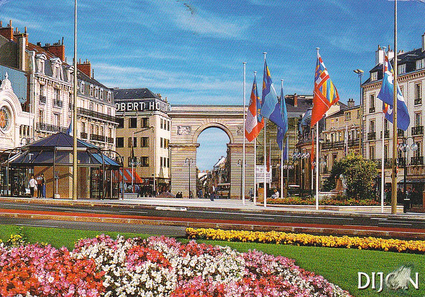 Postcard a la carte dijon the league of historical cities for Domon france