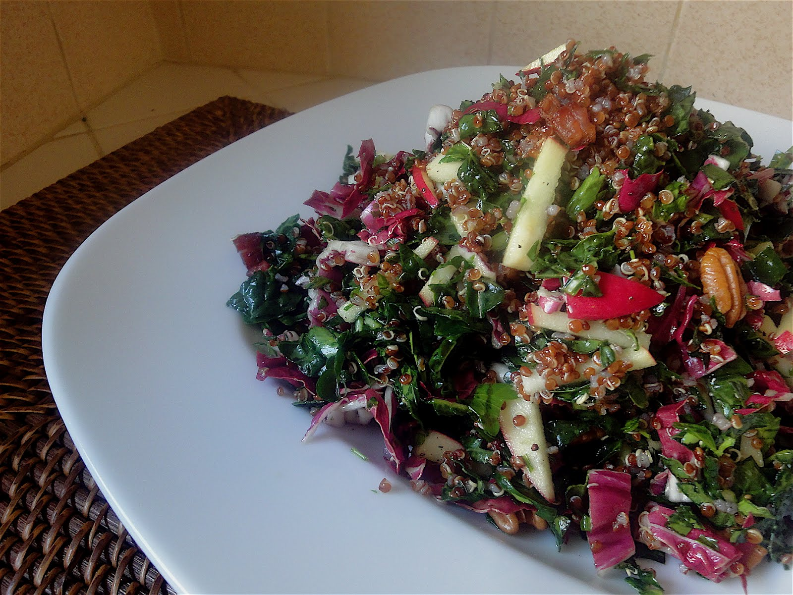 Diana Takes a Bite: Kale, Apple and Pancetta Salad with Quinoa: Be ...