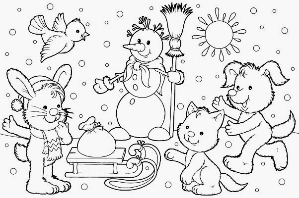 Coloring Pages: Winter Coloring Pages and Clip Art Free and Printable