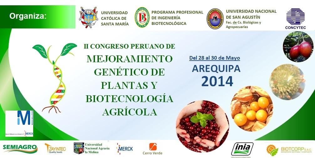 II Congreso Peruano de Mejoramiento Genético y Biotecnología Agrícola
