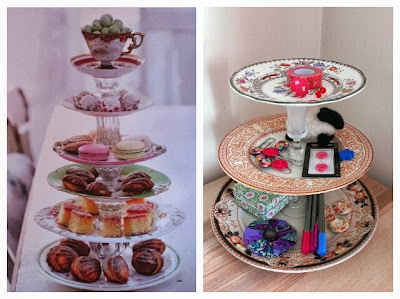 Miss Chaela Boo: Book review: Handmade Gifts Vintage Style - tiered cake stand