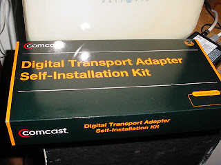 The box in which Comcast sends the DTA.