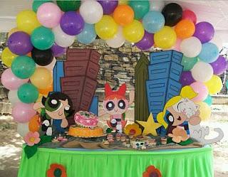 Decoracion de Fiestas Infantiles con las Chicas Superpoderosas