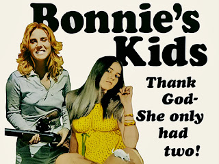 "bonnie's kids poster with the caption ""thank god she only had two!"""