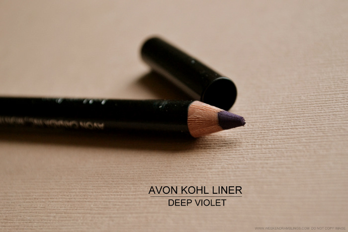 Avon Kohl Eyeliner Pencil Deep Violet Profond - Photos Review Swatch FOTD