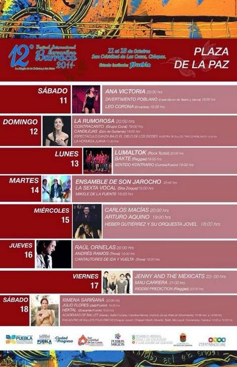 12 FESTIVAL CERVANTINO BARROCO, PROGRAMA