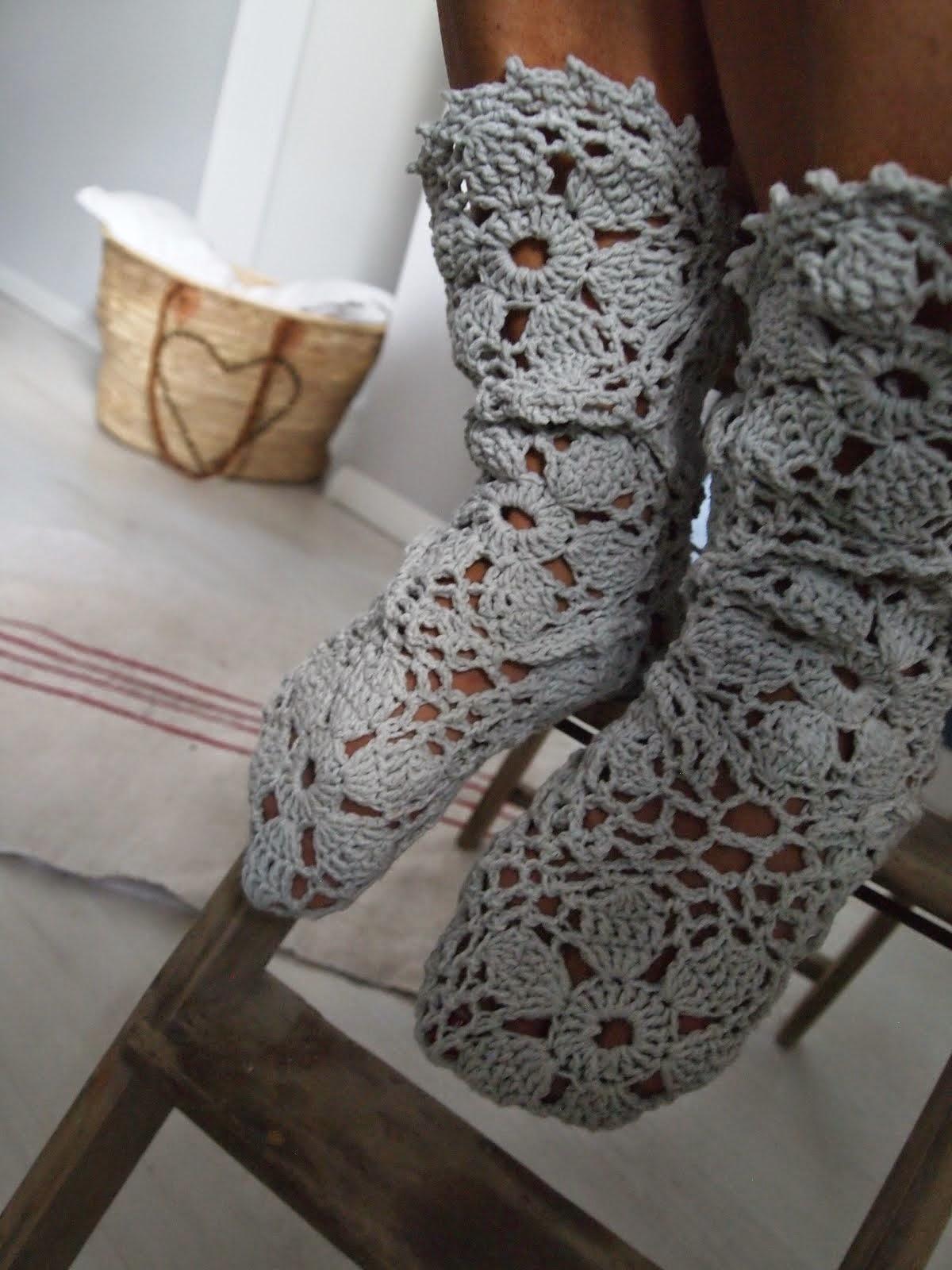 Ponožtičky z háčika