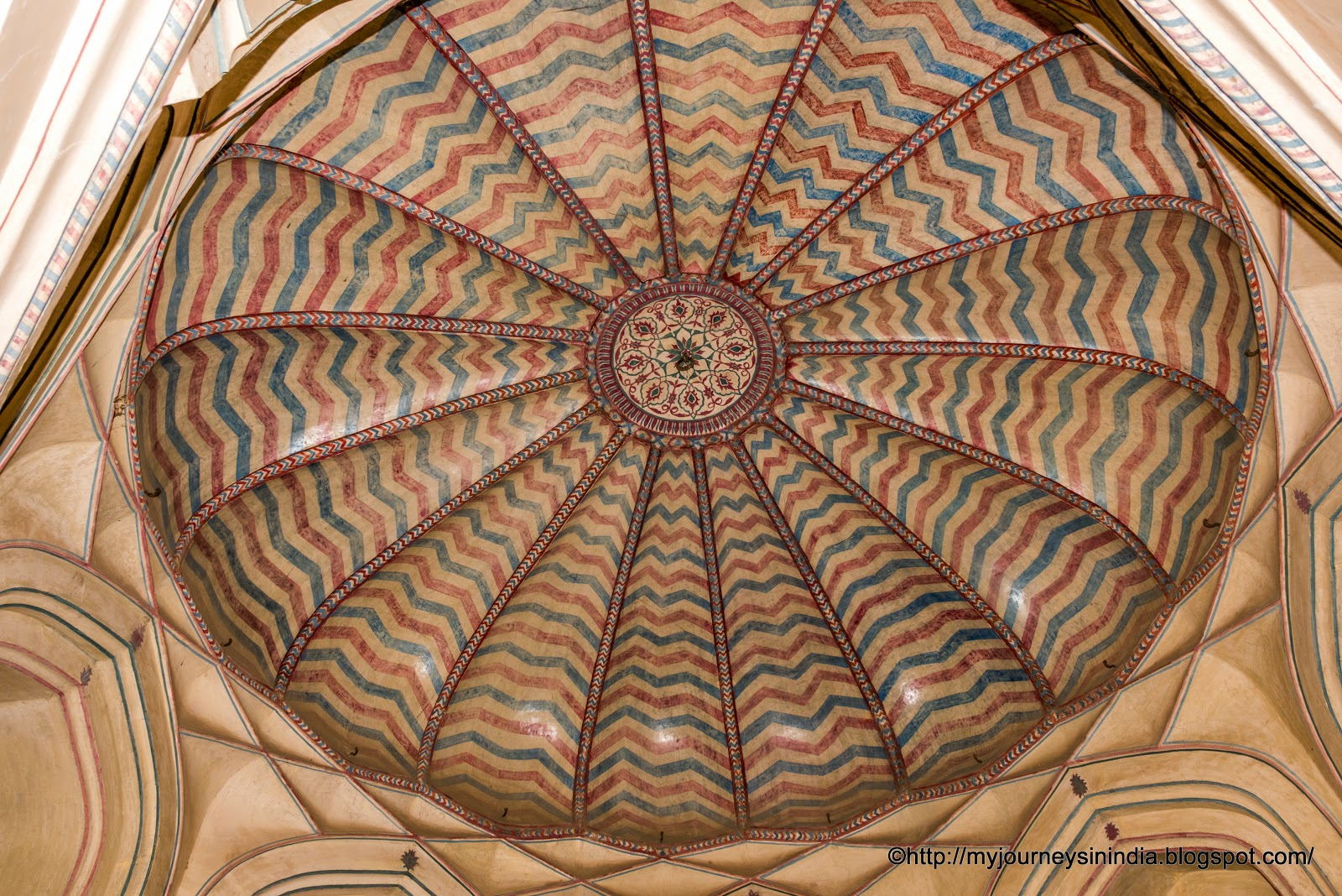 Amer Fort Roof Paintings Jaipur