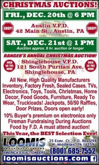 12-20/21 Christmas Auctions